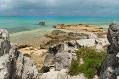 Coastal Beachfront in Bermuda Stock Photos