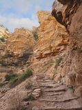 The Rocky Kaibab Trail Into the Grand Canyon Royalty Free Stock Images