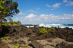 Rocky Ke'anae Beach Park Royalty Free Stock Photos