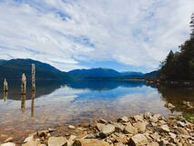 Rocky lake coast Royalty Free Stock Photos