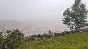 Rocky Lake Superior photos libres de droits
