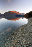 Rocky Lake Wakatipu Queenstown New Zealand Stock Photo