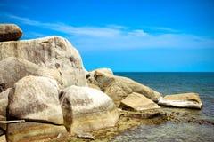 Rocky Lamai Beach Koh Samui Arkivfoto