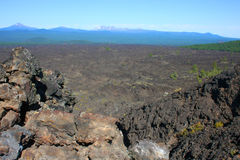 Rocky Barren Lava Field Stock Photo