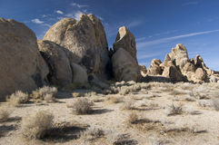 Rocky Landscape. Of the Alabama Hills near Lone Pine, California stock image