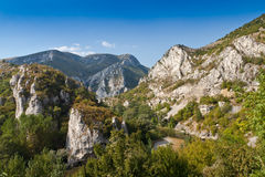 Rocky landscape. Part of the Stara Planina and the Iskar River Stock Photo