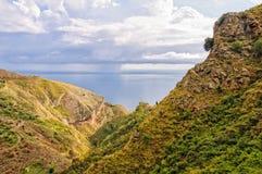 Rocky landscape above Taormina Stock Photography