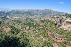 Rocky landscape around Siurana, Spain Royalty Free Stock Photography