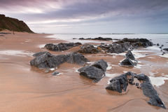 Rocky landscape of Atlantic ocean Stock Photography