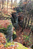 Rocky landscape in autumn Stock Images