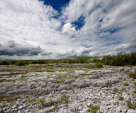Rocky landscape of The Burren in County Clare, Ireland Royalty Free Stock Photo