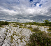 Rocky landscape of The Burren in County Clare, Ireland Royalty Free Stock Image