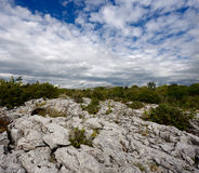 Rocky landscape of The Burren in County Clare, Ireland Royalty Free Stock Images