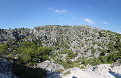 Rocky landscape in the Calanques area, France Stock Photography