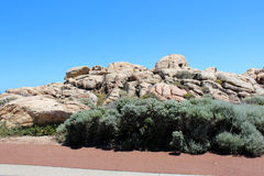 Rocky landscape at Canal Rocks Western Australia. Royalty Free Stock Photos
