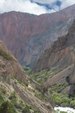 Rocky landscape in the Fan Mountains. Pamir. Tajikistan, Central Stock Photography