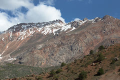Rocky landscape in the Fan Mountains. Pamir. Tajikistan Royalty Free Stock Photography