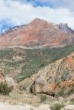 Rocky landscape in the Fan Mountains. Pamir. Tajikistan Stock Images