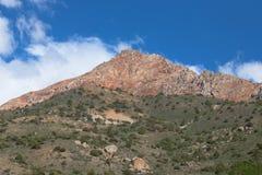Rocky landscape in the Fan Mountains. Pamir. Tajikistan Royalty Free Stock Photo
