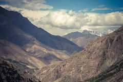 Rocky landscape in the Fan Mountains. Pamir. Tajikistan Stock Image