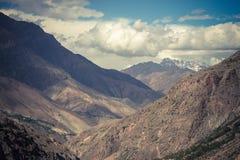 Rocky landscape in the Fan Mountains. Pamir. Tajikistan Stock Image