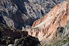 Rocky landscape in the Fan Mountains. Pamir. Tajikistan Royalty Free Stock Image