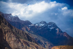 Rocky landscape in the Fan Mountains. Pamir. Tajikistan Royalty Free Stock Image