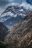 Rocky landscape in the Fan Mountains. Pamir. Tajikistan Stock Photography