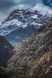 Rocky landscape in the Fan Mountains. Pamir. Tajikistan Stock Photography