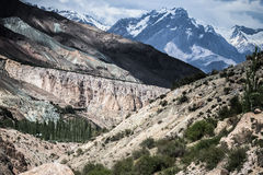 Rocky landscape in the Fan Mountains. Pamir. Tajikistan, Royalty Free Stock Image