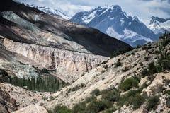 Rocky landscape in the Fan Mountains. Pamir. Tajikistan, Royalty Free Stock Image