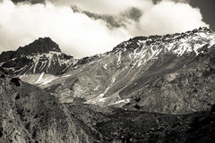 Rocky landscape in the Fan Mountains. Pamir. Tajikistan Stock Photo