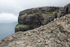 Rocky landscape on the Faroe Islands Royalty Free Stock Photography