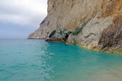 Rocky landscape and Ionian Sea - Zakynthos Island, Greece. Seascape Royalty Free Stock Photos