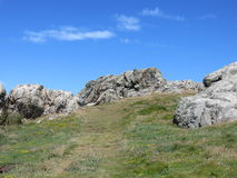 A rocky landscape on Lihou in the Channel islands Stock Image