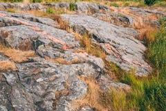 Rocky Landscape Near Helsinki, naturaleza de Finlandia Imagenes de archivo