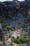 Serra da Estrela. Rocky landscape near the highest point of Serra da Estrela, Portugal Stock Photo