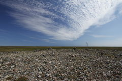 Rocky landscape north of Arviat, Nunavut Royalty Free Stock Images