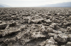 Rocky landscape. Scenic view of rocky volcanic landscape receding into distance Stock Images