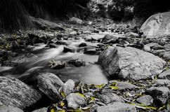Rocky landscape at a small river royalty free stock photo