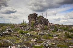 Rocky landscape in South Yakutia Stock Photos