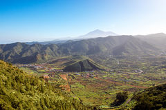 Rocky landscape on Tenerife island Royalty Free Stock Photo