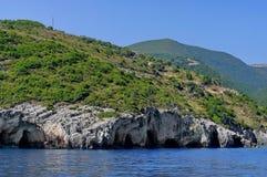 Rocky landscape in Zakynthos, Greece Royalty Free Stock Photography
