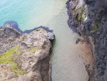 Clear water. Rocky ledge clear water Royalty Free Stock Photography