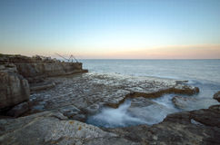 Rocky Ledges and Cliffs at Portland Bill Stock Image