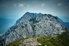 Rocky limestone peak Stock Photo