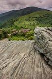 Rocky Lookout på Jane Bald Arkivfoto