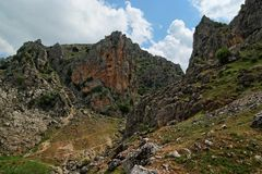 Rocky Mirador de Bailon gorge in Spain Stock Photography