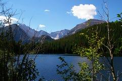 Rocky Mounatain lake. A clear blue mounatin lake in the Colorado Rocky mountains Royalty Free Stock Photo