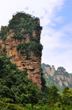 Rocky mountain. Steep rocky mountains and green plant surround in zhangjiajie, hunan province, china Royalty Free Stock Image
